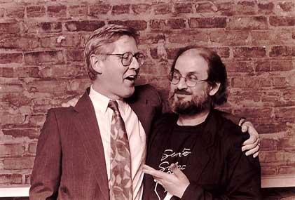 Premier Bob Rae and Salman Rushdie