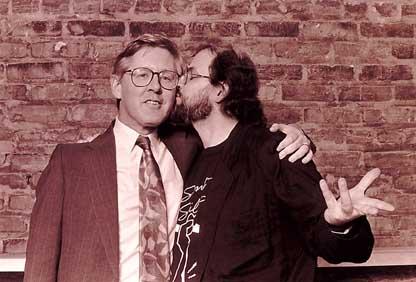 Salman Rushdie kisses Premier Bob Rae