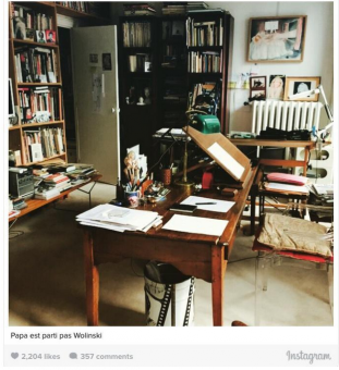 "Screenshot of the Instagram account of the daughter the murdered cartoonist Georges Wolinski: ""papa is gone, not Wolinski""."