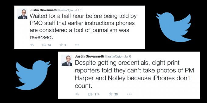 """iPhones don't count"": PMO's Arbitrary Limits on Journalists"