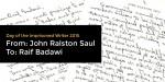 John Ralston Saul Writes to Raif Badawi