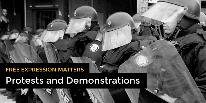 Free Expression Matters: Protests and Demonstrations