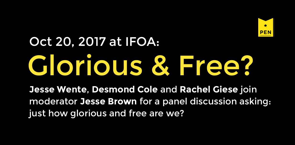 Glorious and Free?, October 20 at IFOA