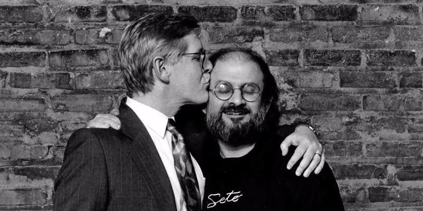 Bob Rae and Salman Rushdie at the 1992 PEN Canada benefitJean-Marc Desrochers Photography