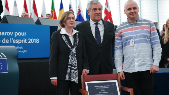 Oleg Sentsov awarded the 2018 Sakharov Prize